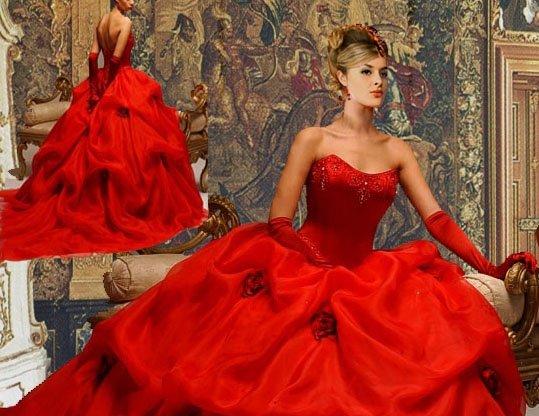 Красное свадебное платье купить спб