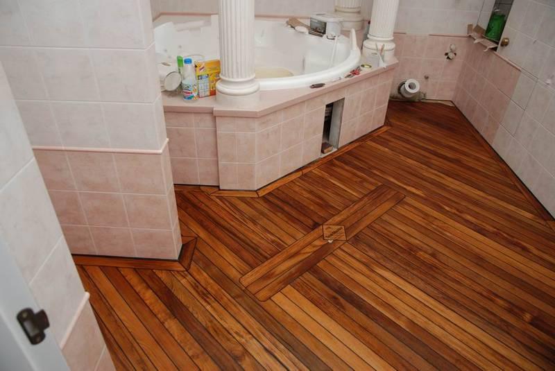 Теплые полы в ванной комнате в частном доме
