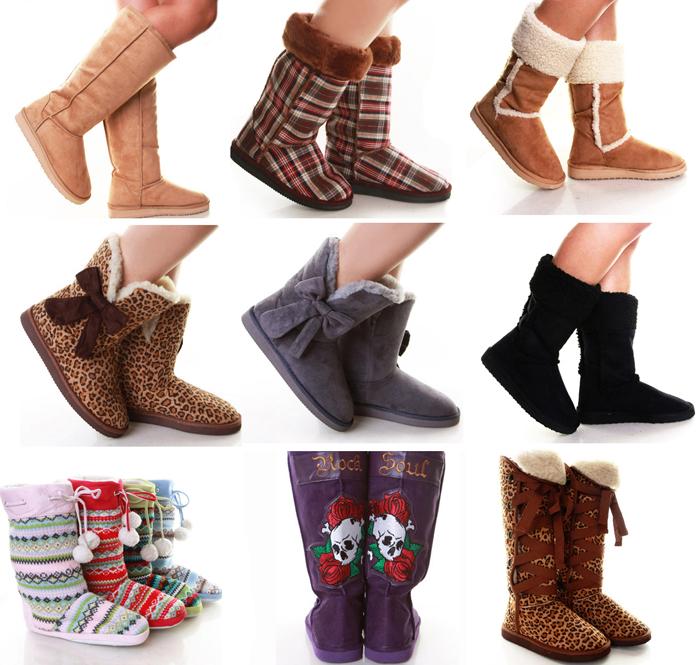 Вязанные угги | Обувная распродажа