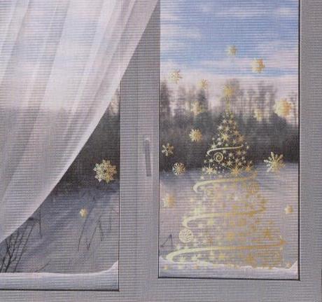 Наклейки на окно на новый год своими