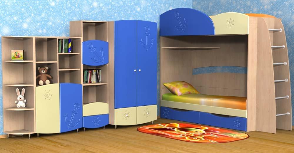 Какие цвета модульной мебели выбрать для детской комнаты сына?