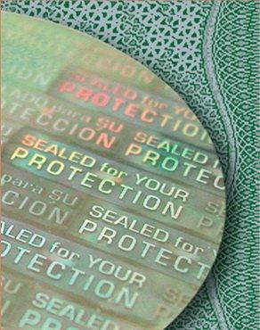 Типографские способы защиты продукции от подделки