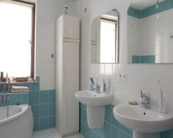 Дизайн ванной комнаты в голубом цвете