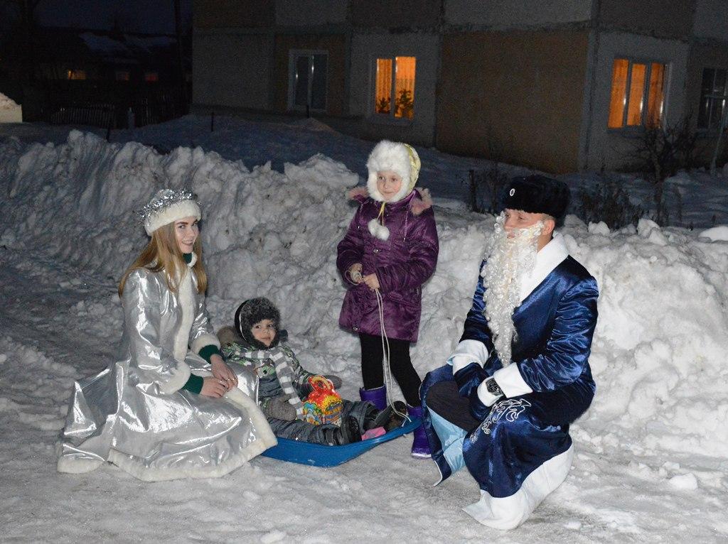 Акция «Полицейский Дед Мороз» шагает по Лаишевскому району