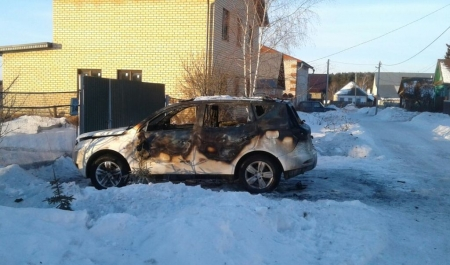 В Лаишеве сгорел автомобиль