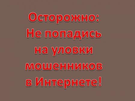 Мужчина перечислил интернет-мошенникам 245 тысяч рублей