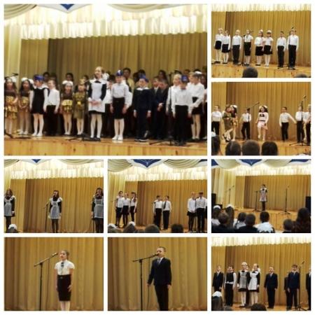 Патриотические песни звучали со сцены Рождественской школы