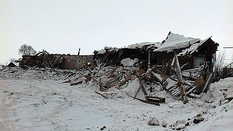 Сносится старое здание бывшей школы г. Лаишева