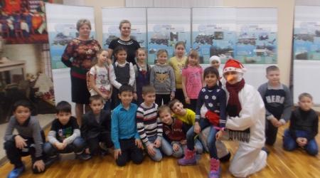 Как ученики Большекабанской школы прощались с зимним лесом