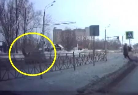 В Казани «Лада «Калина» сбила мужчину на пешеходном переходе