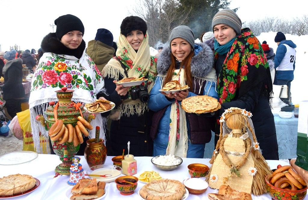Широко отпраздновали Масленицу в Лаишеве