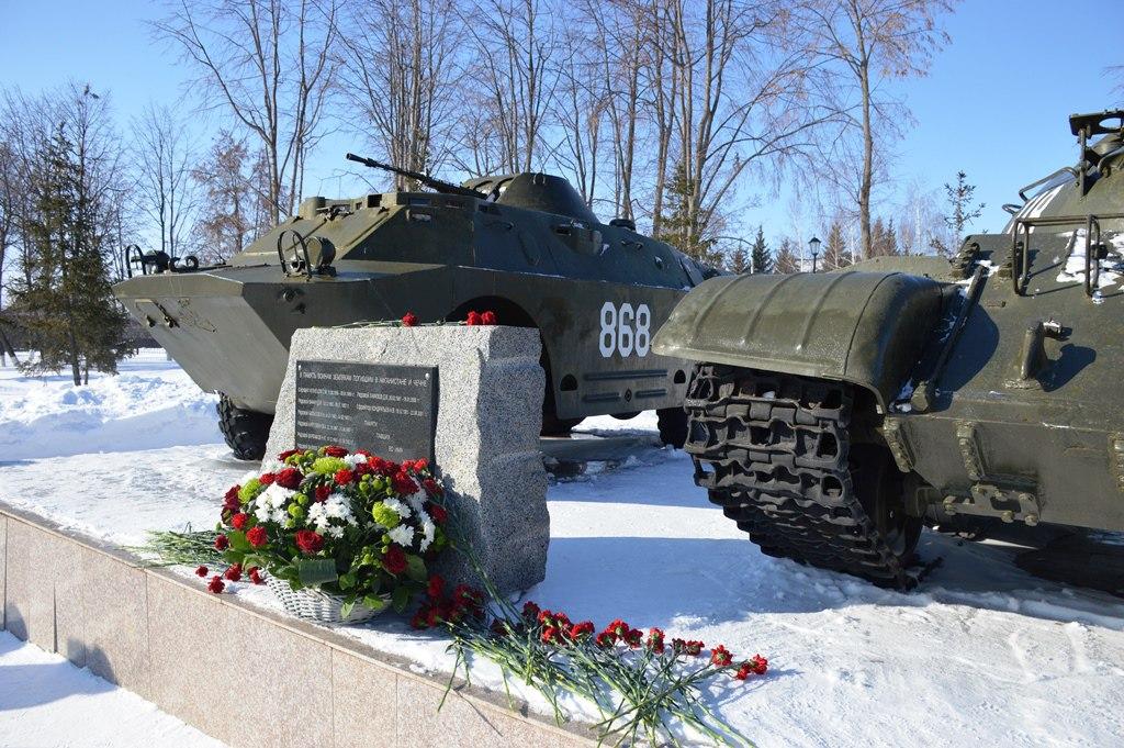 Жители Лаишева почтили память погибших в Афганской и Чеченской войнах