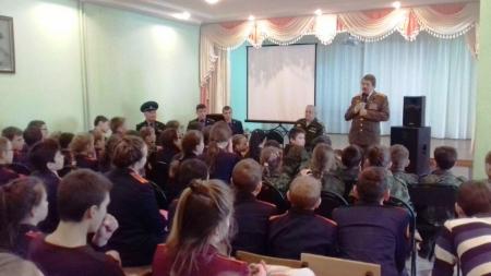 Кадеты Столбищенской школы - участники XVI Международного слета юных патриотов «Равнение на победу!».