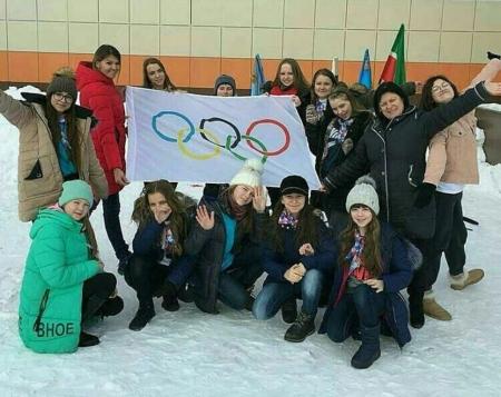 В Столбищенской школе поддержали спортсменов Российской олимпийской сборной