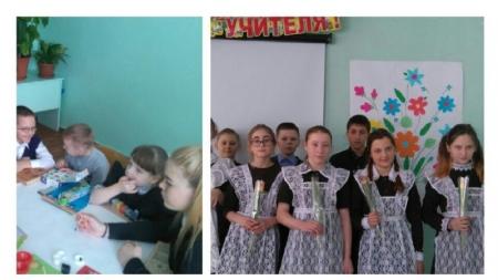 Орловские школьники поздравили одноклассниц