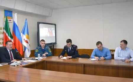 Совет и Исполнительный комитет района принял участие в видеоконференции о готовности республики к паводку