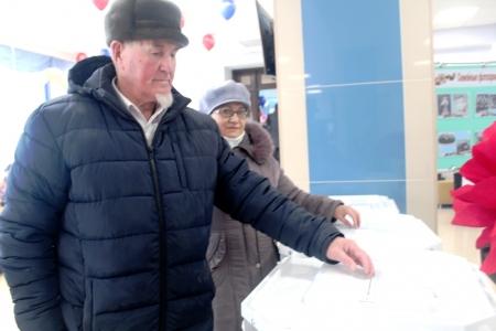 Проголосовал имам-мухтасиб Лаишевского района