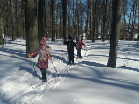 Лаишевские школьники совершили лыжную прогулку