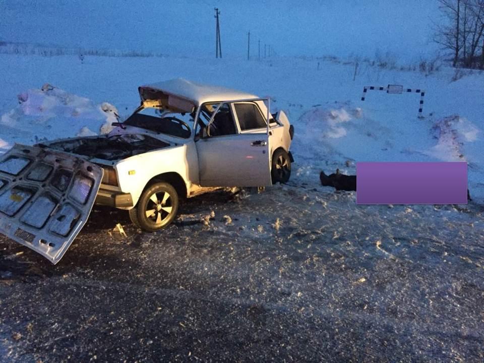 В Лаишевском районе сегодня вечером, 15 марта, у Сокуров в ДТП погибли два человека