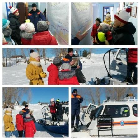 Лаишевский ГИМС провел экскурсию для воспитанников школы-интерната