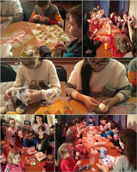 В Лаишевском районе детей учили красить яйца к Пасхе