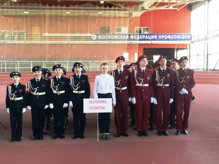 Столбищенские кадеты стали лучшими на Всероссийском смотре строя и песни