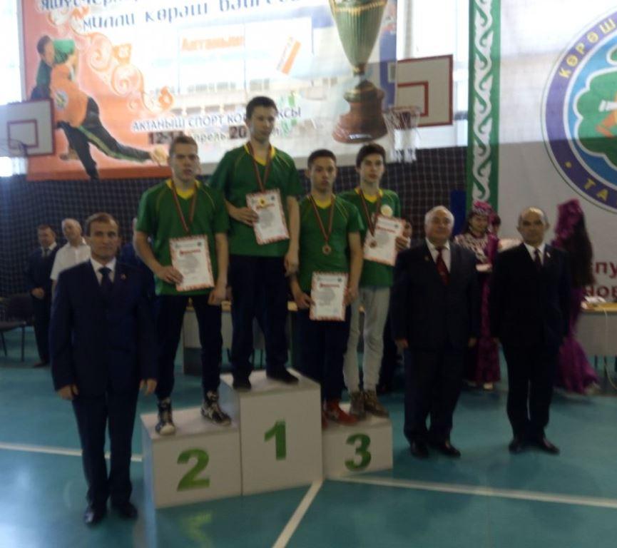 Спортсмен из Габишева – бронзовый призер Республиканских соревнований по национальной борьбе