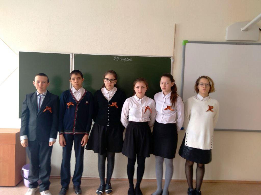 Учащиеся Лаишевского района раздают георгиевские ленточки. Часть 2