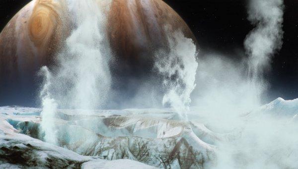 Астрономы нашли следы гейзеров на спутнике Юпитера Европе