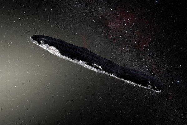 Загадочный розовый астероид Оумуамуа летит к Юпитеру