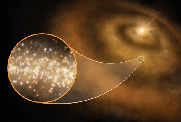 Астрономы: Свет отдалённых звезд выделяет «алмазная пыль» вокруг них