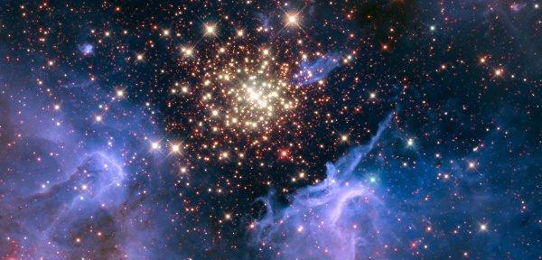 NASA показали как выглядит космический фейерверк
