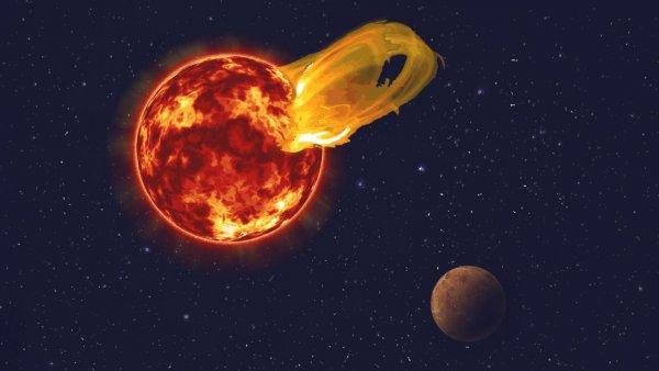 Вспышки звезды приводят к взрывам в атмосфере Осириса