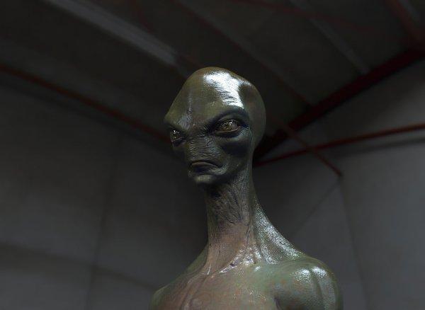 Марсоход NASA запечатлел окаменевшее лицо пришельца