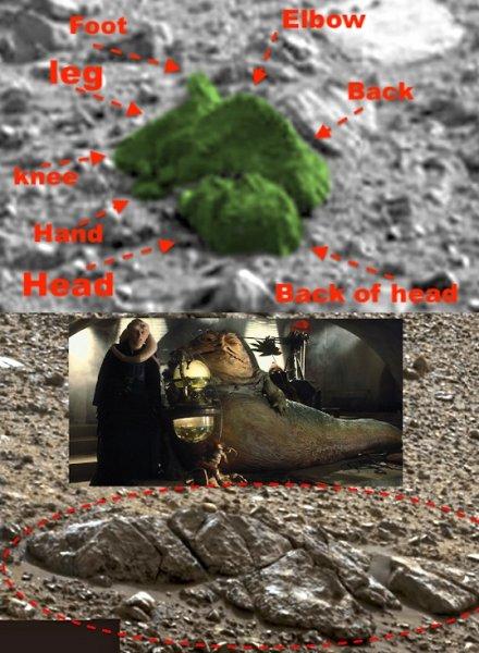 На поверхности Марса найден инопланетянин из «Звездных войн»