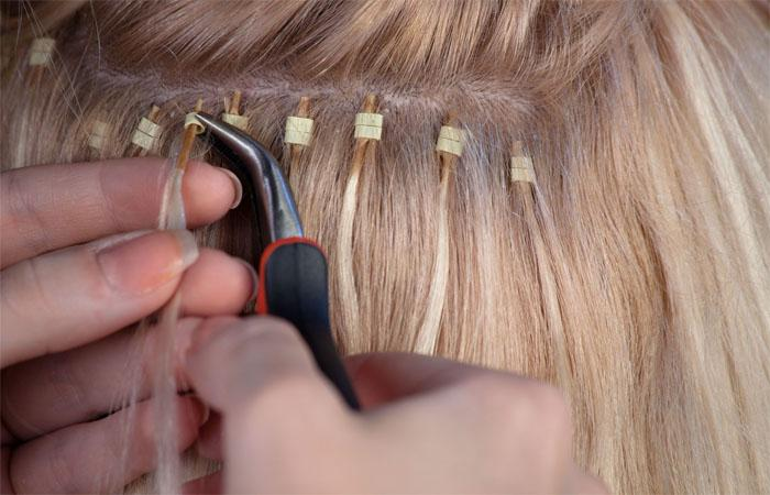 Коррекция наращенных волос