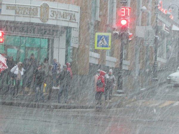«Глобальное потепление?»: Погодная аномалия во Владивостоке вылилась в мощнейшую метель с молниями