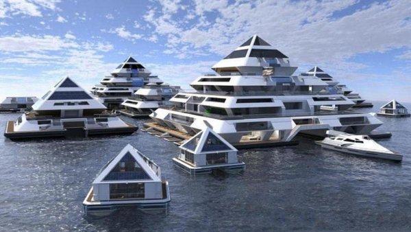 Предложена постройка плавучих городов для спасения человечества от губительных изменений климата