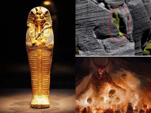 Нибиру поднимает армию из Ада – На Марсе обнаружен саркофаг египетского фараона