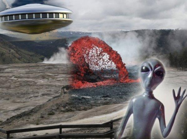 НЛО атаковал Йеллоустон - Пришельцы хотят взорвать супервулкан и уничтожить человечество