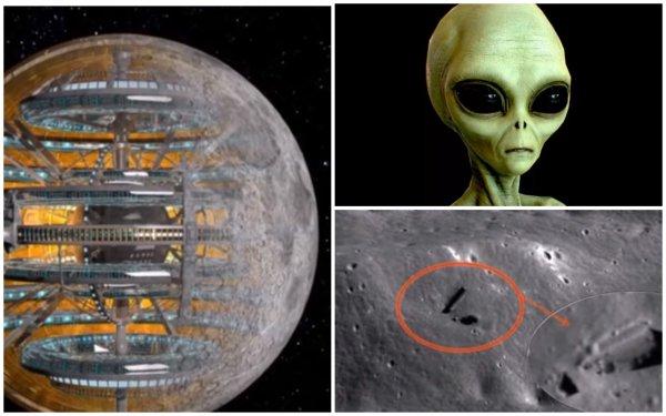 Пришельцы живут в Луне. 300-километровый бункер найден внутри спутника