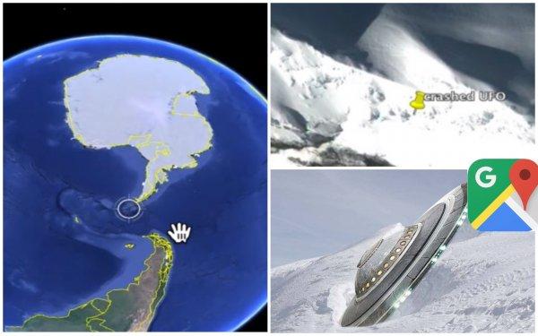 100-метровый НЛО в Антарктиде: Google Maps открыл тайну века