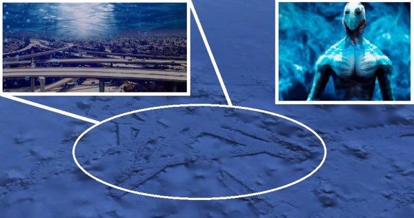 Google Maps показал подводный город пришельцев