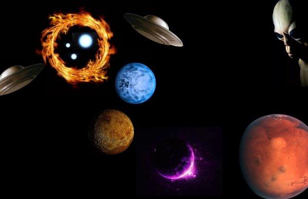 Огненный диск породил гигантскую Луну: Пришельцы создают новые планеты