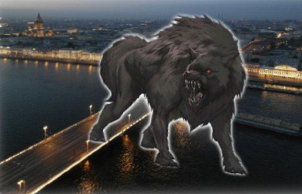 Боевые псы Нибиру в России? Рыбаки засняли оборотня под Питером на Неве