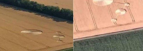Круги на полях в Краснодаре: Очевидцы засняли, как НЛО рисует узоры на участках