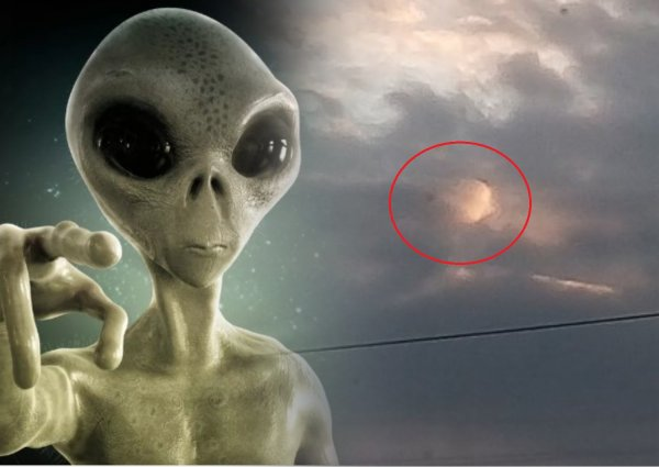 Глаз Бога или Нибиру? В небе над Петербургом возник аномальный силуэт