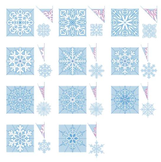 Снежинки из бумаги ажурные