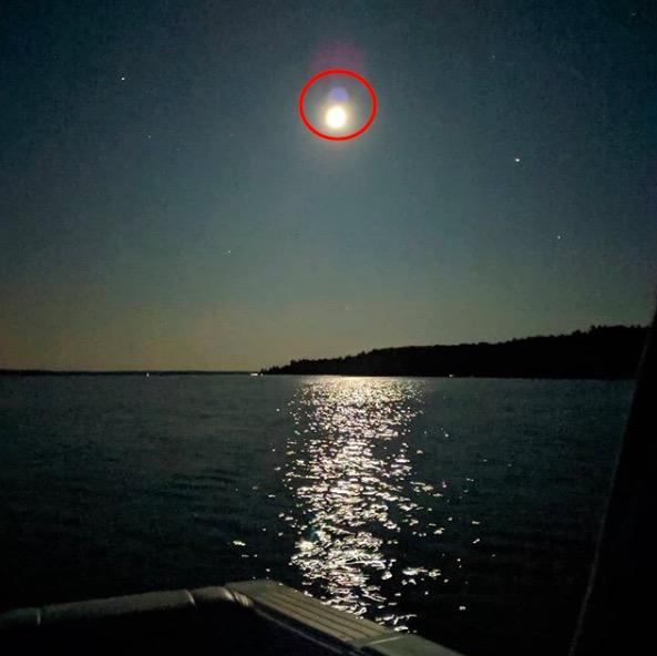 Отслоение Луны. Очевидец заметил пугающее явление в небе