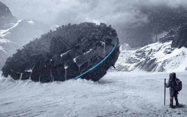 Предки человека? В Антарктиде найден 3000-летний корабль пришельцев